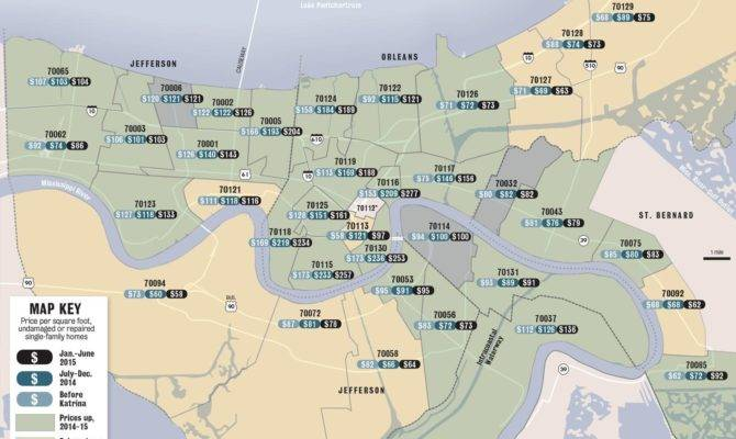 New Orleans Home Prices Percent Since Hurricane