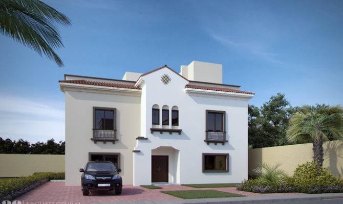 New Spanish Villa Design Renderings Mediterranean