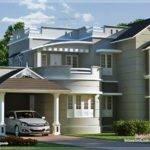 New Style Home Exterior Feet Kerala Design Floor