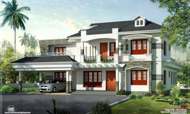 New Style Kerala Luxury Home Exterior Plans