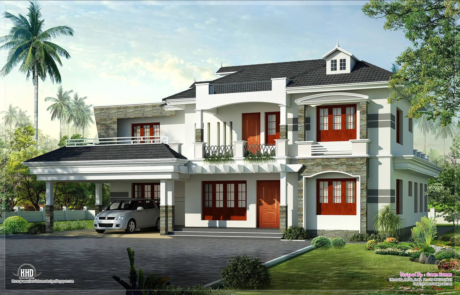 New Style Kerala Luxury Home Exterior Plans