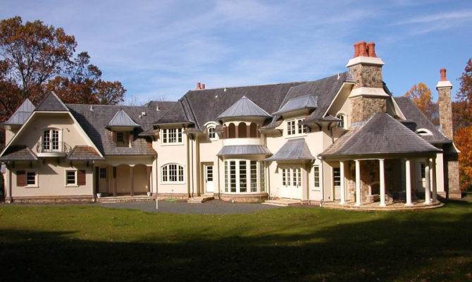 Newly Built French Country Manor New Jersey Homes
