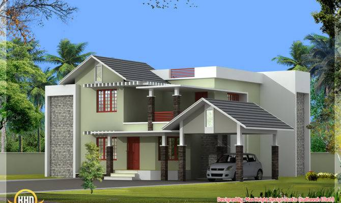 Nice Home Elevation Kerala Design Floor Plans