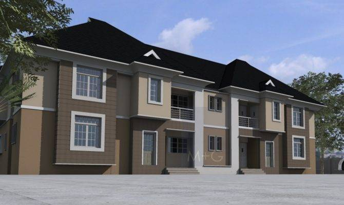 Nigerian Residential Architecture Bedroom Flats Units