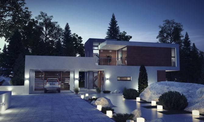 Night Visualization Modern House