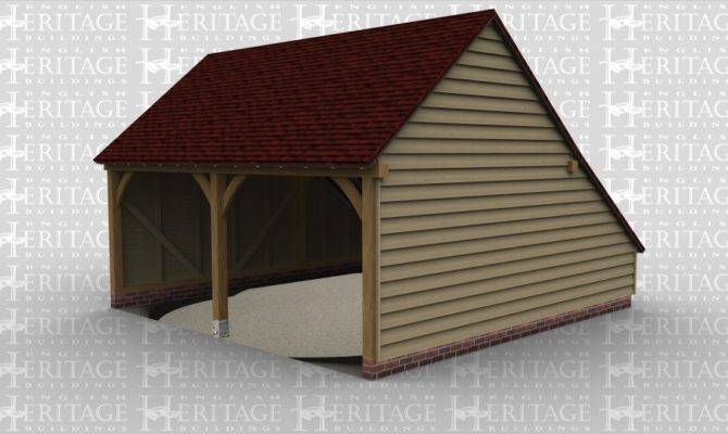 Oak Framed Two Bay Garages English Heritage Buildings