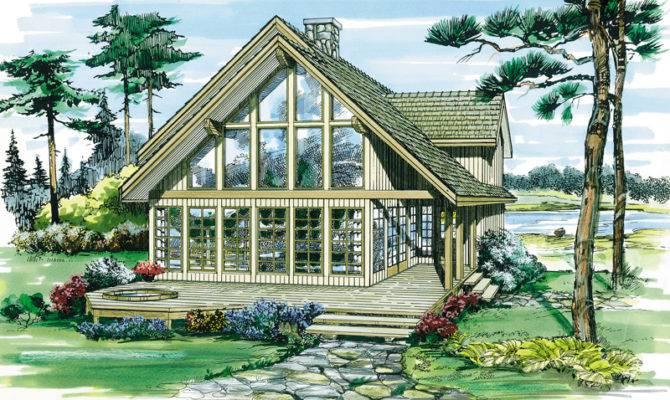 Oakleigh Pass Frame Cabin Home Plan House Plans More