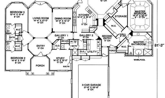 Oakley Manor Luxury Ranch Home Plan House