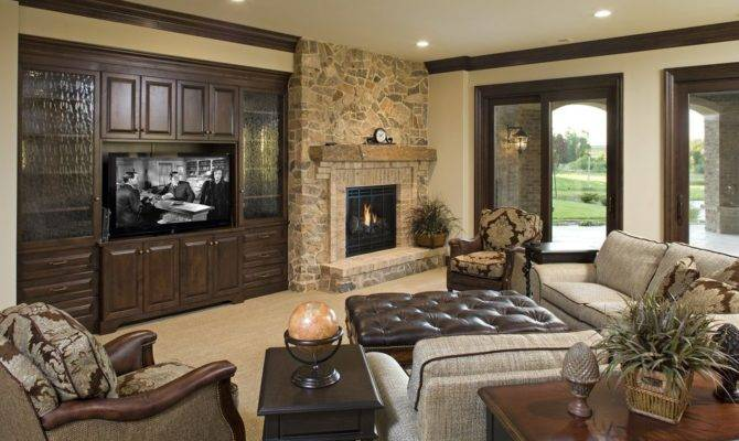 Off Center Fireplace Living Room Peenmedia