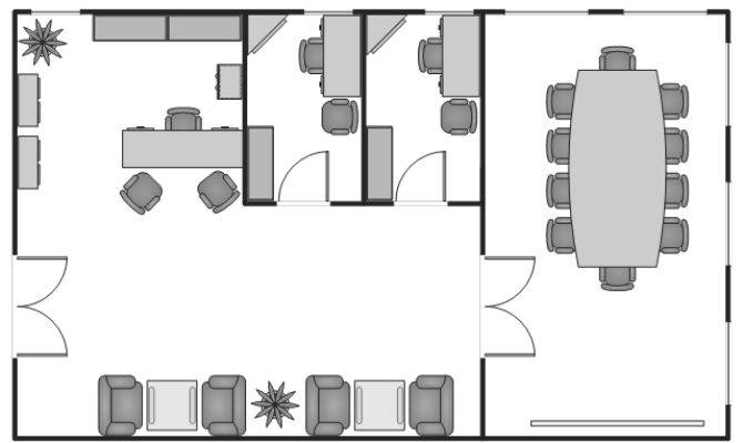 Office Layout Plans Small Floor