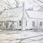 Old Farmhouse Drawing Scott Easom