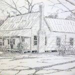 Old Farmhouse Drawing Scott Easom