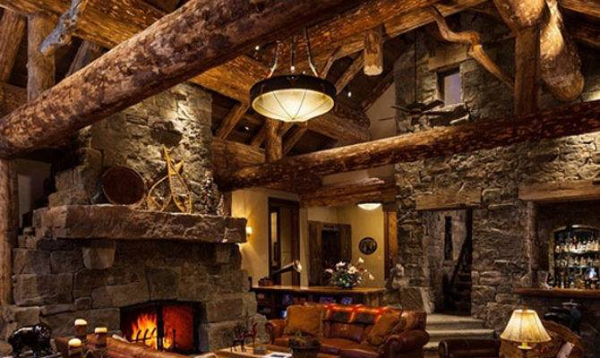 Old West Inspired Luxury Rustic Log Cabin Big Sky