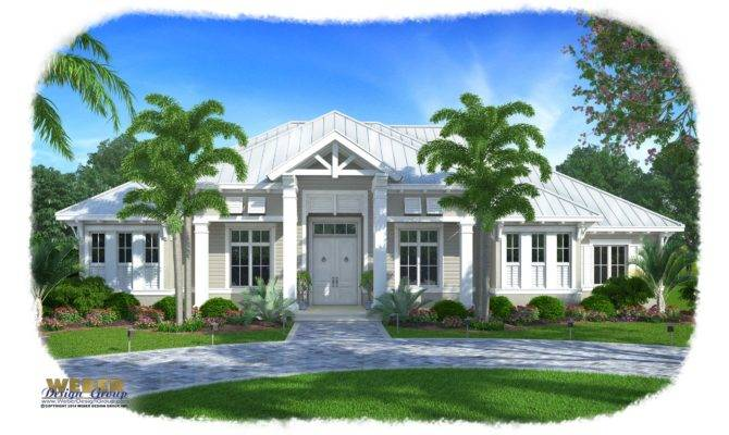 Olde Florida House Plan Barbados Weber Design Group
