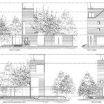 Oliphant House Elevations During Design Development
