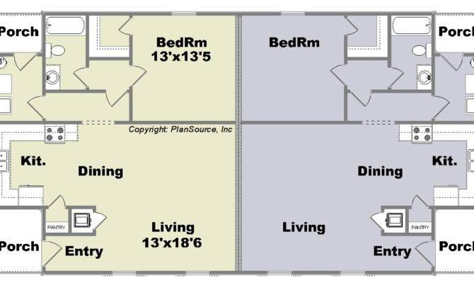 One Bed Quadplex Plans Joy Studio Design Best