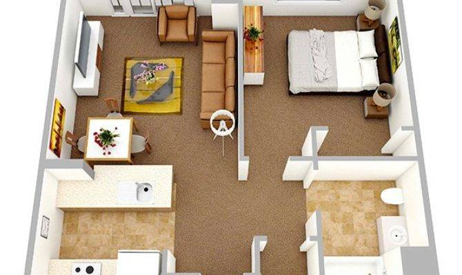 One Bedroom Apartment Plans Singles Couples