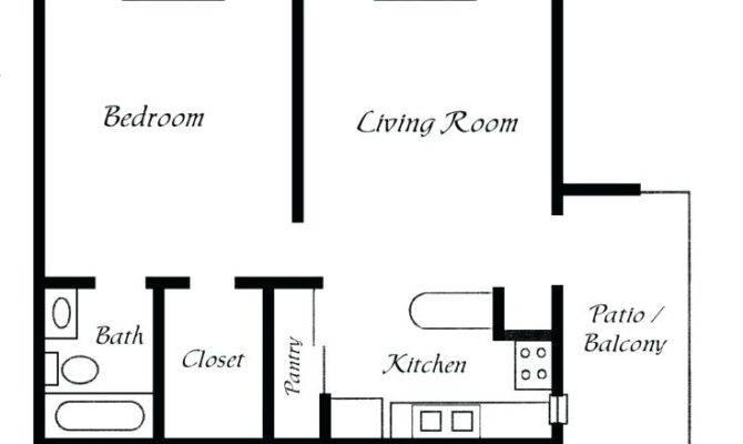 One Bedroom Bath House Plans Best Simple Floor