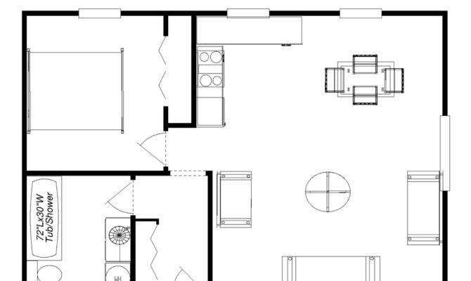 One Bedroom Cottage Floor Plans
