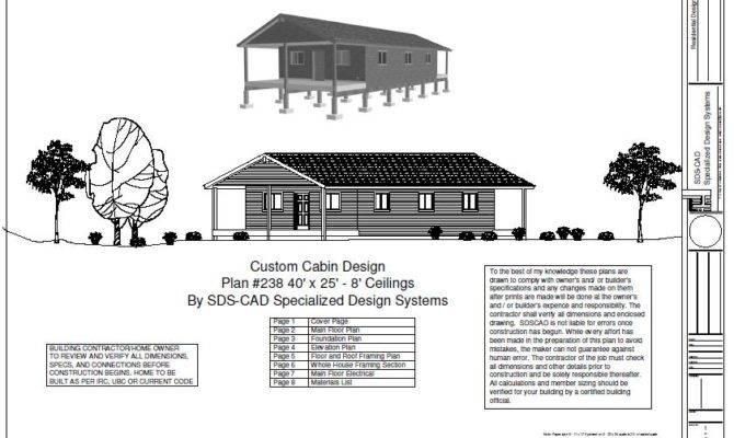 One Bedroom Log Cabin Floor Plans