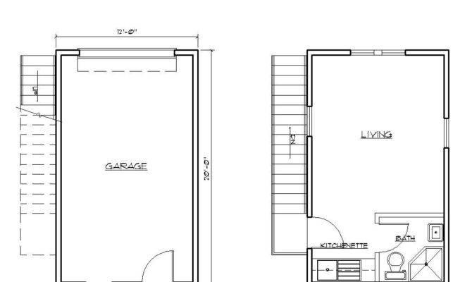 One Car Garage Apartment Plans
