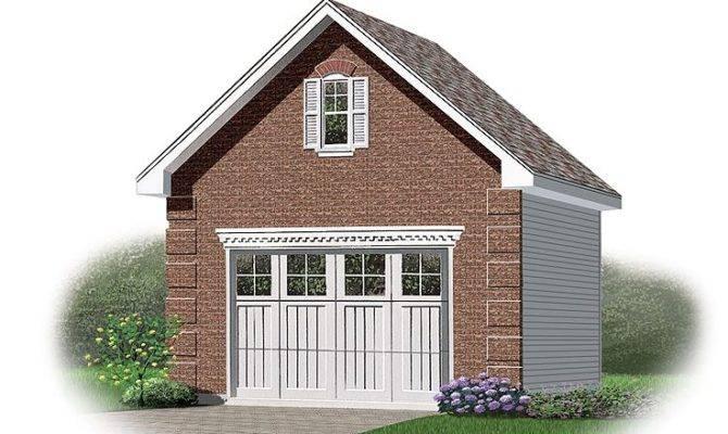 One Car Garage Plans Detached Loft Plan