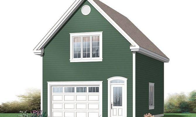 One Car Garage Plans Traditional Plan Loft