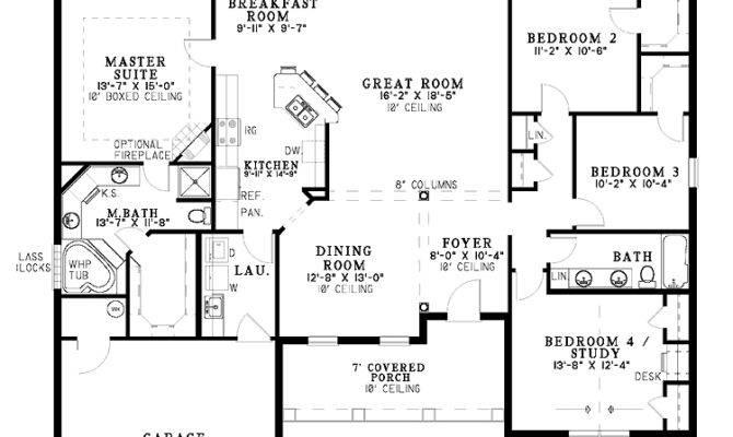 One Level Home Plans Smalltowndjs
