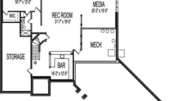 One Level House Plans Angled Garage Single