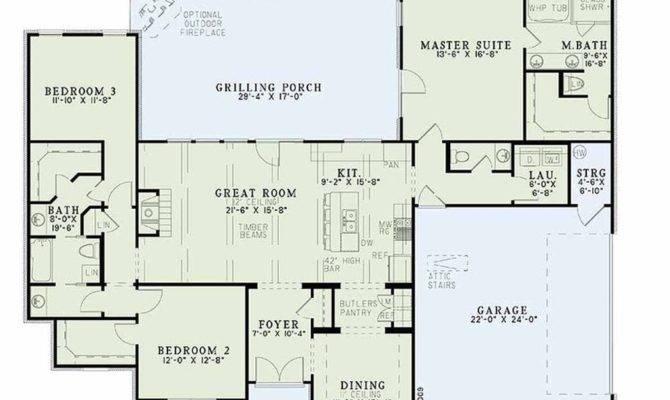 One Level House Plans Basement Fresh