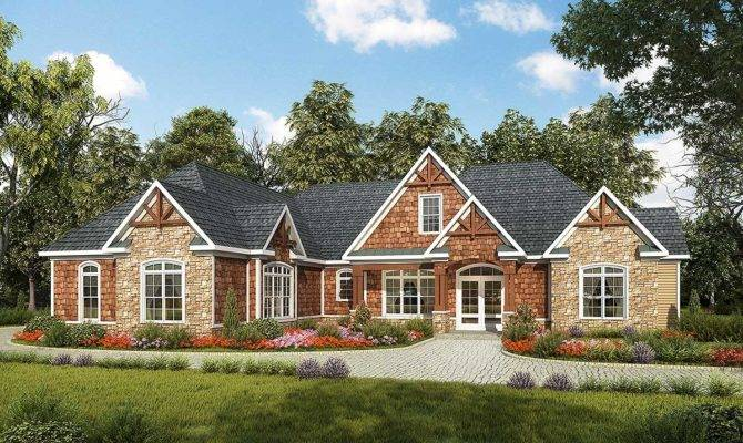 One Level Luxury Craftsman Home Architectural