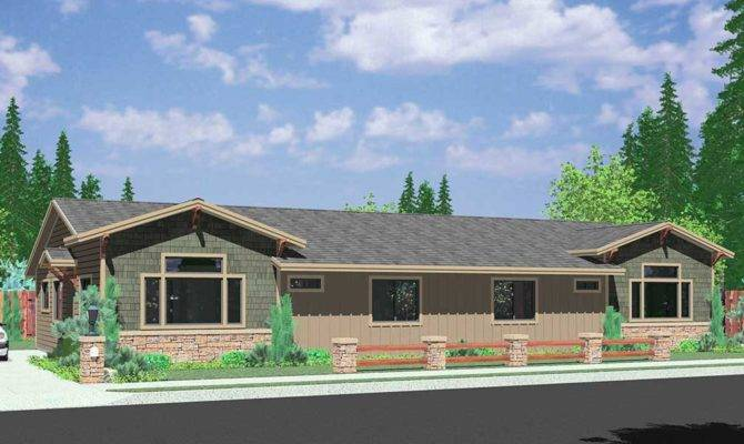 One Level Ranch House Plans Homes Floor