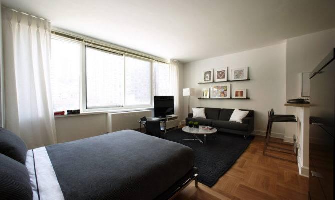 One Multipart Design Briliant Layout Studio Apartment