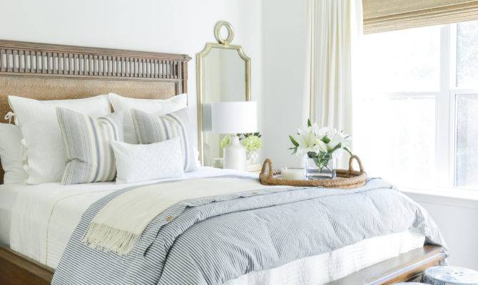 One Room Challenge Classic Blue White Guest Bedroom