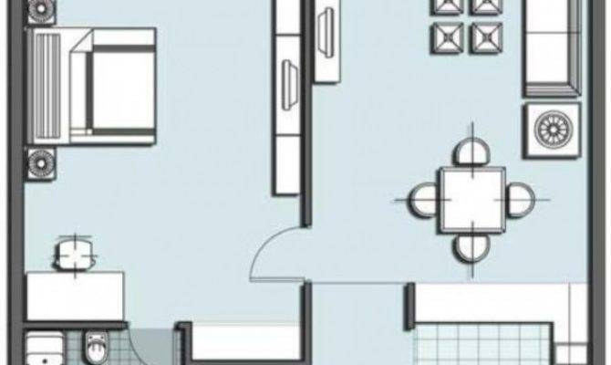 One Room Floor Plan Small House Home Constructions