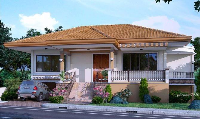 One Storey House Design Basement Garage Pinoy
