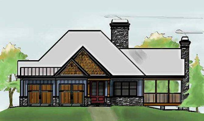 One Story Cottage Style House Plan Car Garage Ideas