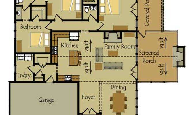 One Story Cottage Style House Plan