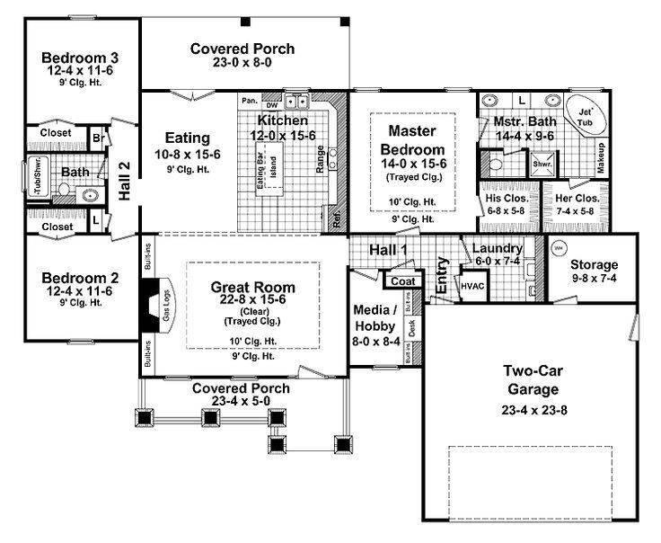 One Story Craftsman Floor Plans Joy Studio Design Best