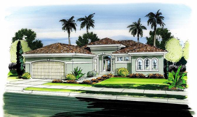 One Story Florida House Plan Architectural