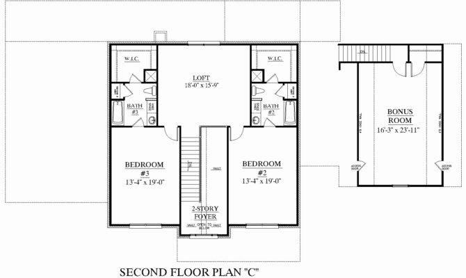 One Story House Plans Bonus Room Basement Escortsea