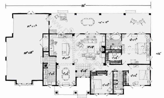 One Story House Plans Open Floor Design