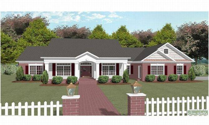 One Story House Plans Over Two