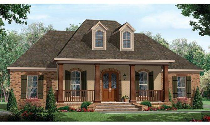 One Story House Plans Porch