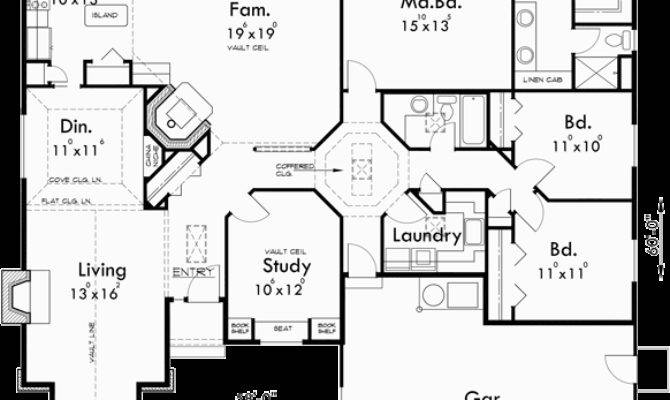 One Story House Plans Single Level Bedroom