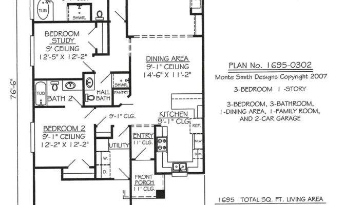 One Story Narrow House Plans