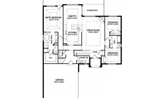 One Story Open Floor House Plans