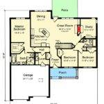 One Story Split Bedroom House Plan