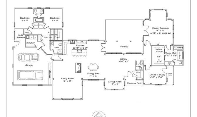 One Story Timber Frame Plan