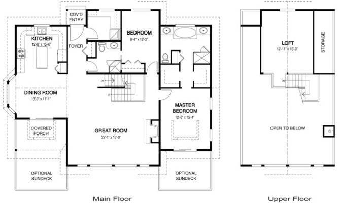 Open Concept Cabin Floor Plans Homes